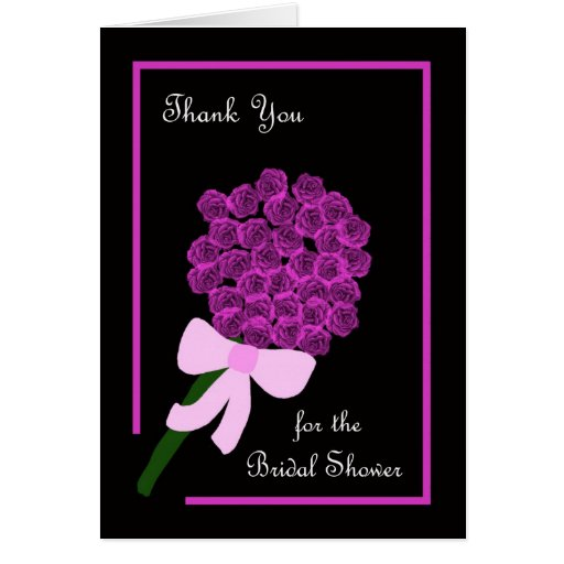 Roses Bridal Shower Hostess Thank You Card Zazzle