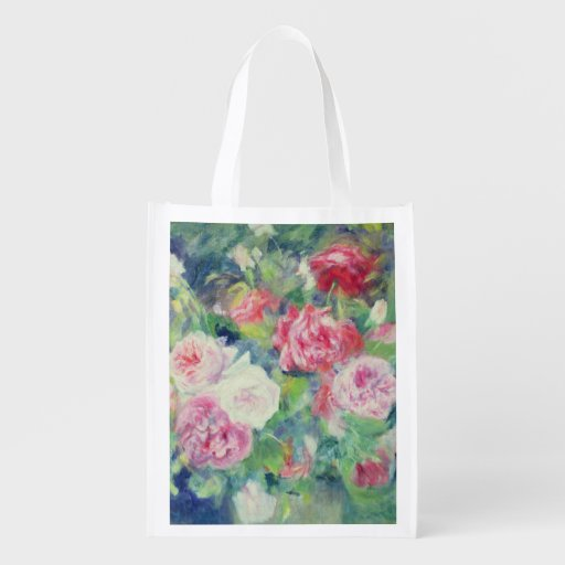Roses, c.1885 (oil on canvas) grocery bag