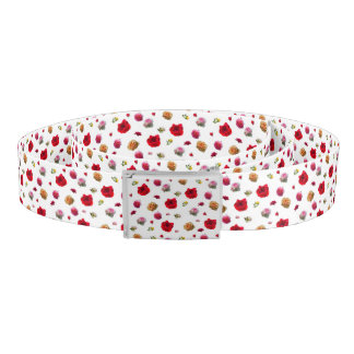 roses collage on white background belt