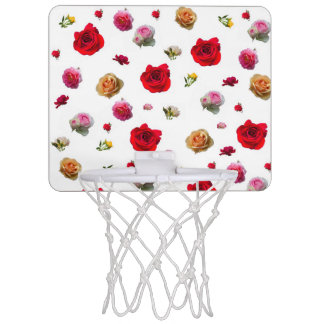 roses collage on white background mini basketball hoop
