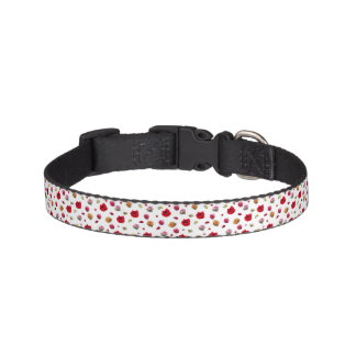 roses collage on white background pet collar