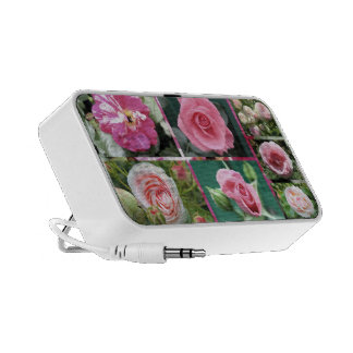 roses collage portable speakers