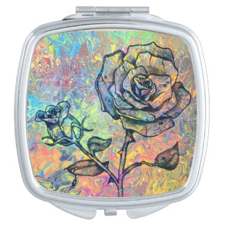 Roses Compact Mirrors