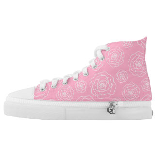 Roses contour High Top Shoes Printed Shoes