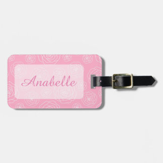 Roses Contour Luggage Tag