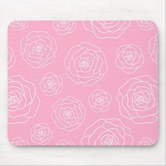 Roses Contour Mouse Pad