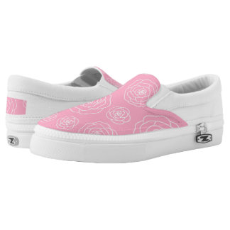 Roses contour Slip On Shoes Printed Shoes