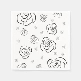 Roses Disposable Serviettes