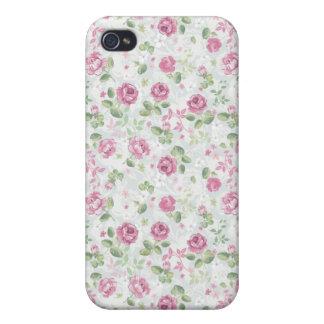 Roses Elegant Vintage Floral Pattern Flowers Retro Case For iPhone 4
