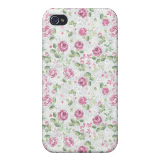 Roses Elegant Vintage Floral Pattern Flowers Retro iPhone 4/4S Case