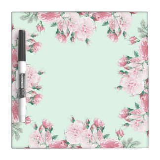 Roses floral dry erase board shabby chic