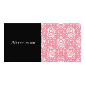 Roses Floral Style Damask Art Pattern Photo Cards