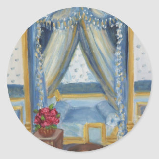 Roses for Josephine: Fontainebleau Chateau Round Sticker