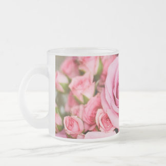 Roses For Mom! Frosted Glass Mug