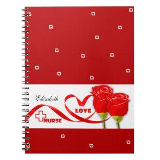 Roses for Nurse. Gift Notebooks