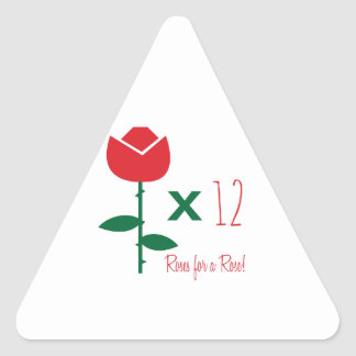 Roses for Roses Triangle Sticker