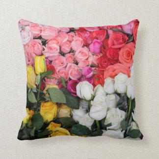 Roses for sale, San Miguel de Allende, Mexico Cushion