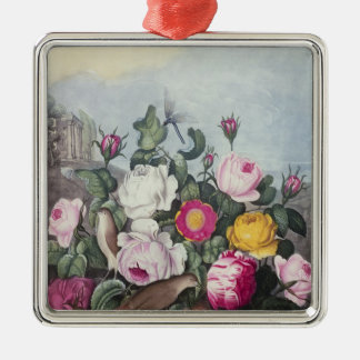 Roses, from 'The Temple of Flora' Christmas Ornament