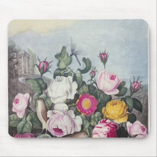 Roses, from 'The Temple of Flora' Mouse Mat