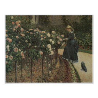 Roses, Garden at Petit Gennevilliers, 1886 Poster