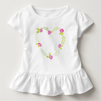 Roses Garland in a Heart Shape Toddler T-Shirt