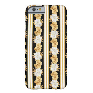 Roses gold white black bouquets stripes barely there iPhone 6 case