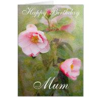 ROSES HAPPY BIRTHDAY MUM GREETING CARD