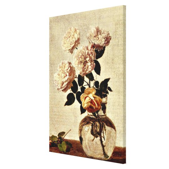Roses, Henri Fantin-Latour artwork Canvas Print
