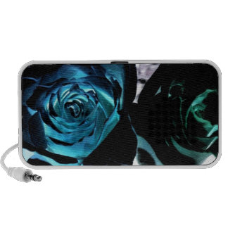 Roses in a different light notebook speaker