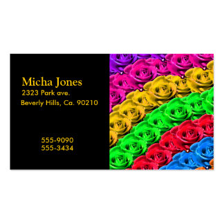 Roses In A Rainbow Of Colors Business Cards