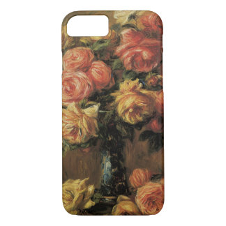 Roses in a Vase by Pierre Renoir, Vintage Fine Art iPhone 8/7 Case