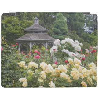 Roses in bloom and Gazebo Rose Garden at the iPad Cover