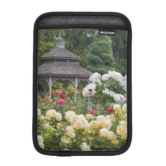 Roses in bloom and Gazebo Rose Garden at the iPad Mini Sleeve