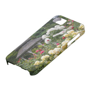 Roses in bloom and Gazebo Rose Garden at the iPhone 5 Covers