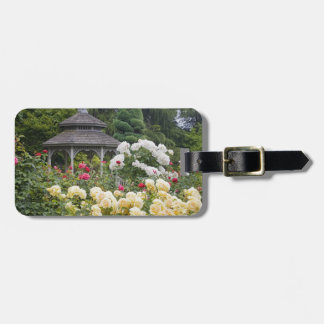 Roses in bloom and Gazebo Rose Garden at the Luggage Tag