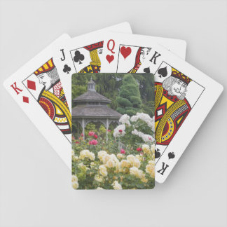 Roses in bloom and Gazebo Rose Garden at the Playing Cards