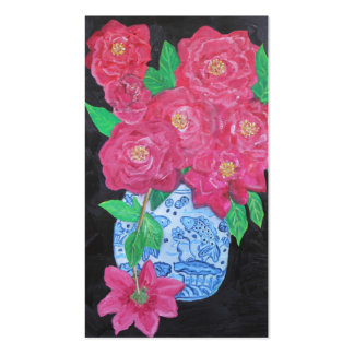 Roses in Chinese Vase Pack Of Standard Business Cards