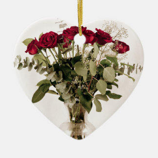 """""""Roses in clear vase"""" collection Christmas Ornament"""