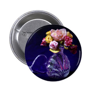 Roses in Glass Pinback Buttons