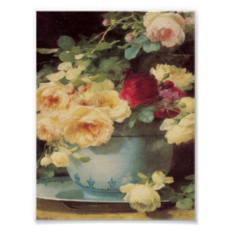 Roses In Porcelain Bowl Emilie Vouga Mother's Day Poster