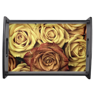 Roses in Sepia Tone Food Tray