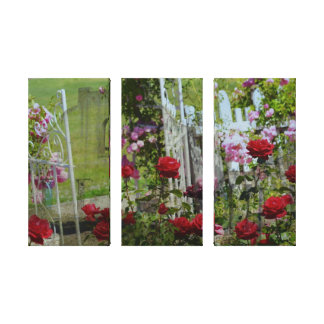 Roses In the Garden Gallery Wrap Canvas