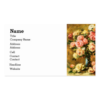 Roses in the Vase Renoir Fine Art Pack Of Standard Business Cards