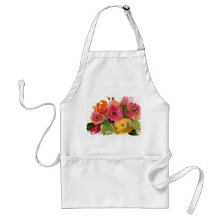 Roses in watercolor standard apron