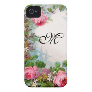 ROSES & JASMINES MONOGRAM iPhone 4 COVERS