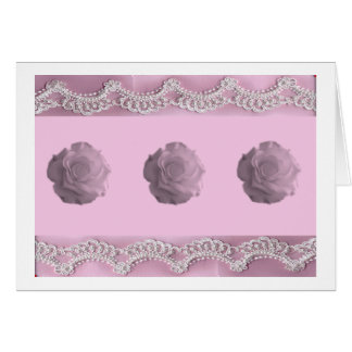 Roses & Lace Valentines Day Card - Simple