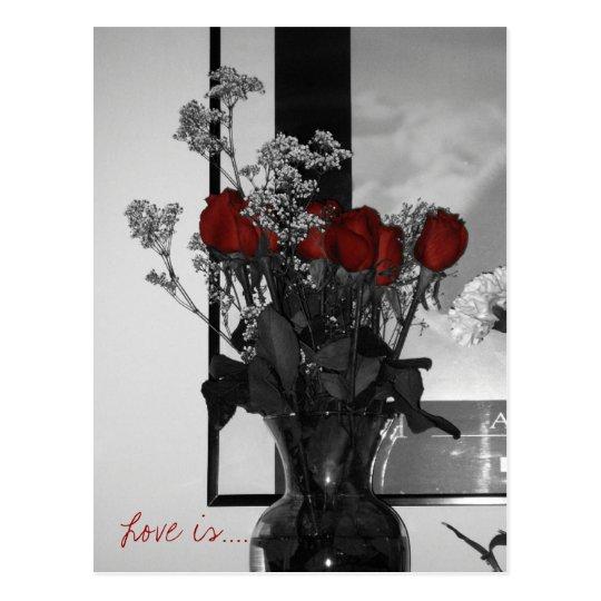 Roses, Love is.... Postcard
