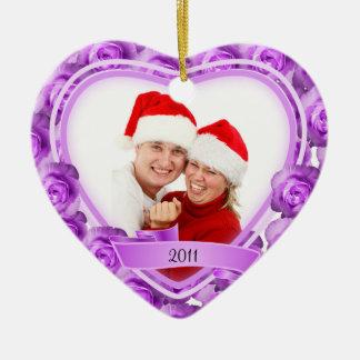 Roses/Love~ Photo Ceramic Heart Decoration