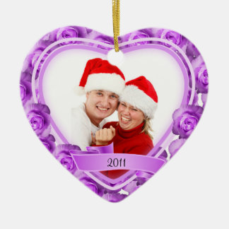 Roses/Love~ Photo Christmas Ornament