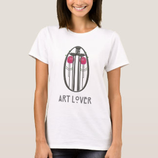 Roses & Lovebirds Art Nouveau Design T-Shirt